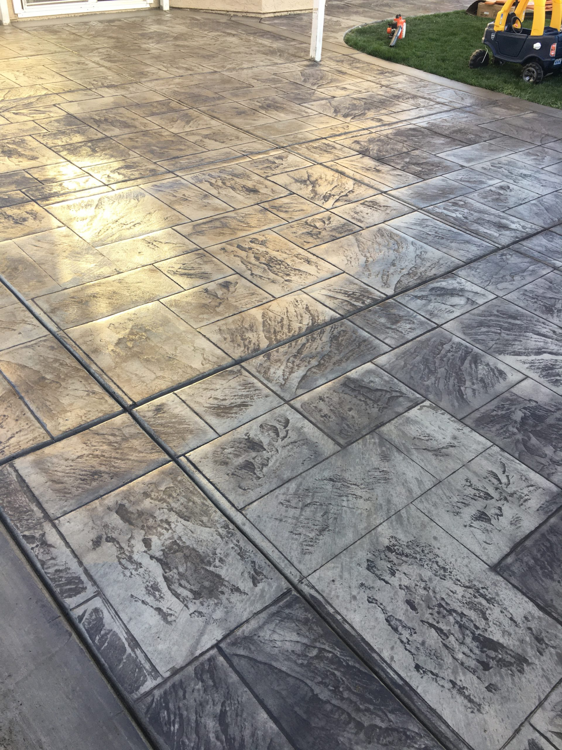 Pleasant Hill Remodel Stamped Concrete Project