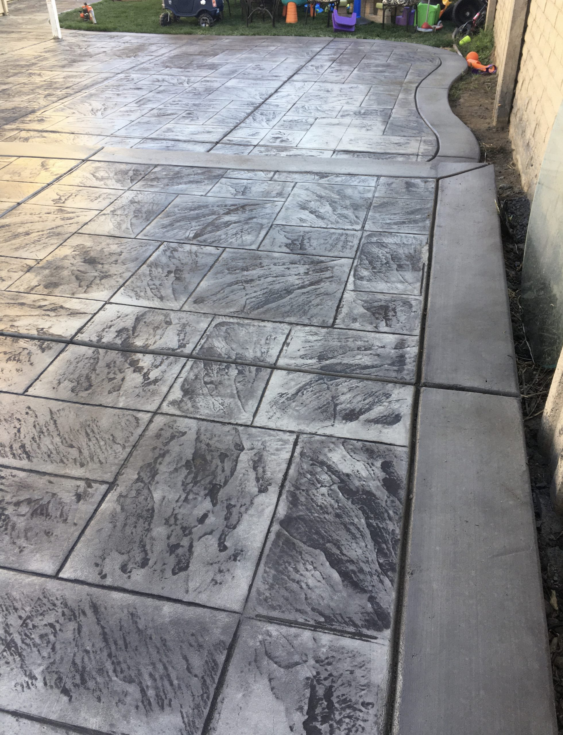 Stained Concrete Turning White